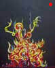 Fire (framed) | Acrylics on paper | SOLD | 2003